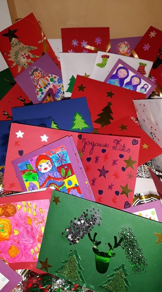 MERCI aux enfants de l'école primaire Calderoni qui ont réalisé ces magnifiques cartes de Noël