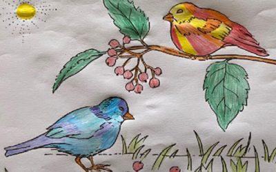Les enfants de Calderoni dessinent pour pour les séniors de la commune